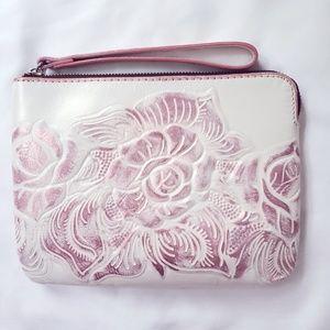 Patricia Nash White & Pink Florescent Wristlet